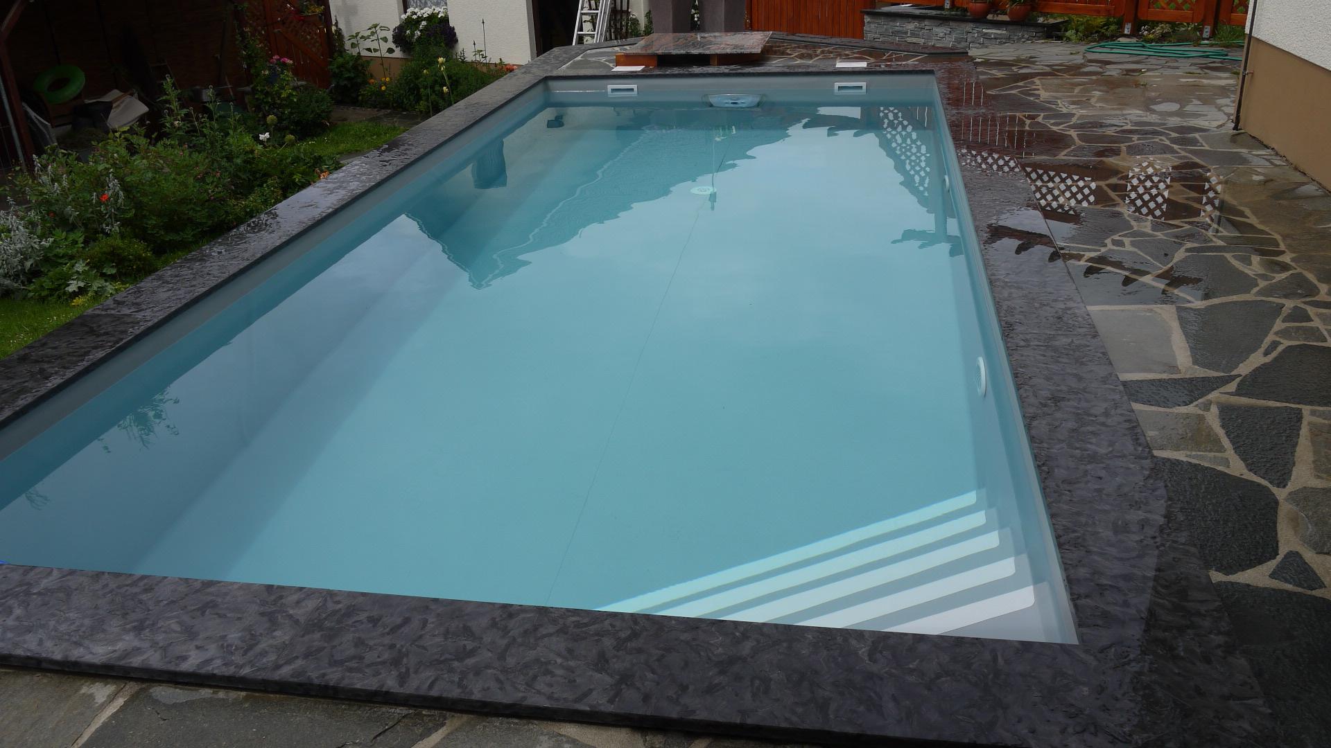 Schwimmb der for Pool mit folie auskleiden